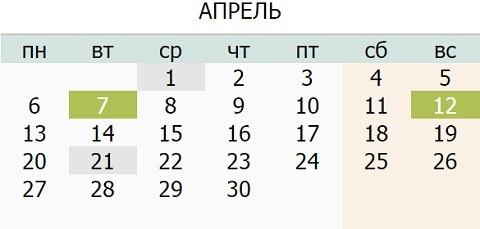 Календарь праздников Украины на Апрель 2015 года
