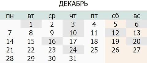 Календарь праздников Украины на Декабрь 2015 года