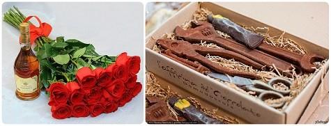 Что можно подарить мужчине на 23 февраля - конфеты и цветы