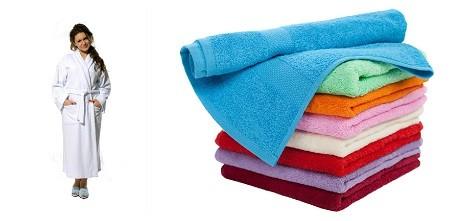 Махровый халат и набор полотенец к 8 марта