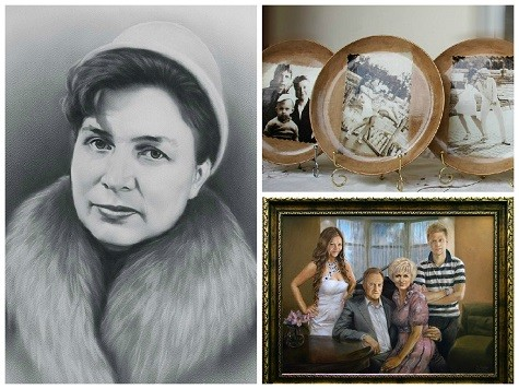 Памятные фотографии в подарок маме