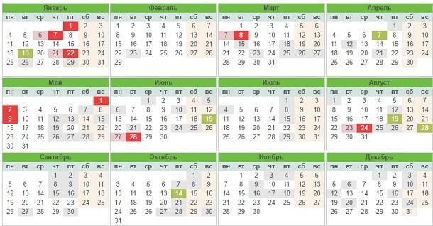 Календарь праздников Украины на 2017 год