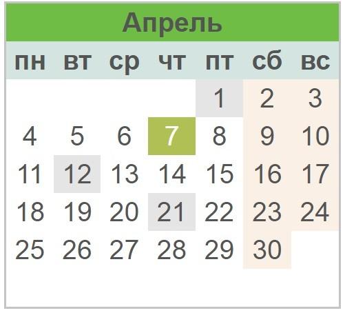 Календарь праздников Украины на апрель 2017 года