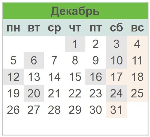 Календарь праздников Украины на декабрь 2017 года