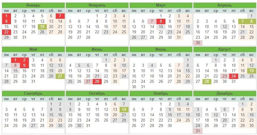Календарь праздников Украины 2018